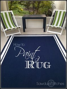 Cheap and easy outdoor rug. $20!