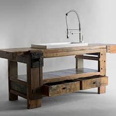 Kitchen Furniture, Furniture Design, Muebles Home, Woodworking Bench, Küchen Design, Design Ideas, Interior Design Kitchen, Vintage Kitchen, Shabby