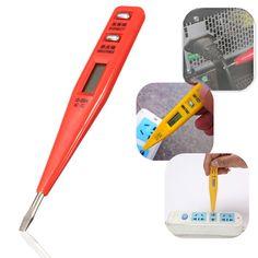 Digital LCD Display AC/DC Electric Voltage Tester Alert Test Pen Detector Sensor