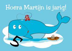 Walvis verjaardagskaart - Verjaardagskaarten - Kaartje2go Family Guy, Snoopy, Guys, Illustrations, Fictional Characters, Products, Illustration, Fantasy Characters, Sons