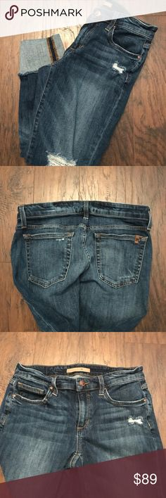 Joe's Jeans Denim Slim Cropped Skinny Jeans 26 Size 26.  Stretch.  Great condition.  Worn twice. Joe's Jeans Jeans Ankle & Cropped