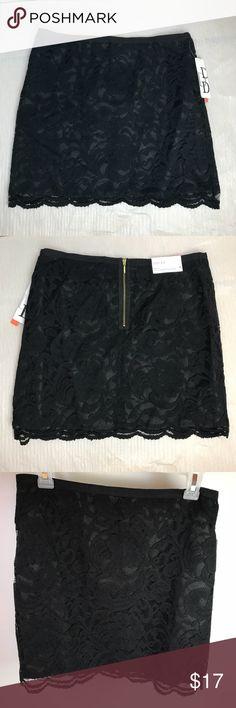 "Lace skirt Dalia collection size 4 NWT lace skirt. Dalia collection size 4 women's skirt lace with silk line. Measurements lay flat:  Waist 14.5"" Length 16.5"" Dalia Collection Skirts Midi"
