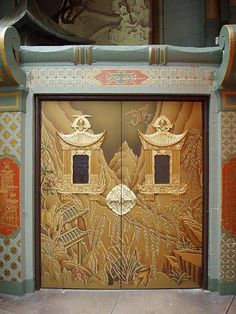 The Golden Doors at Grauman's Chinese Theater, Hollywood, California by Betsy Malloy