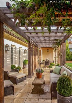 Stunning Garden Design : Arbor : Outdoor Living :: from Tone on Tone