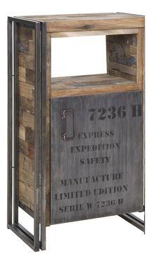 Mobiletto in legno riciclato e ferro