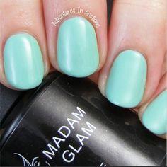 'Honeydew' Soak off Gel Nail polish by Madam Glam   Visit us on www.madamglam.com   Up to 40% OFF Sale NOW