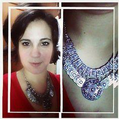 Colar turco... peça desejo e escolhida da coleção @clubdamicanga no dia da inauguração da nova loja no shopping Recife... gostaram? ♥ -------//------ turkish necklace... desired and choosed one on launch day of new Club da Miçanga store... in love... what do you think? ♥