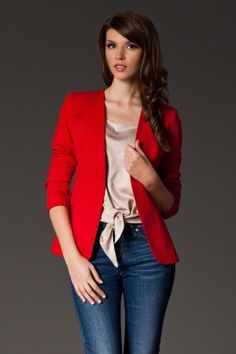 Another great find on Red Open Blazer Sweater Outfits, Sweater Cardigan, Blazers, Fashion Outfits, Womens Fashion, Fashion Tips, Fashion Ideas, Red Blazer, Lingerie