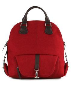 Rebeca Backpack, canvas, maroon.