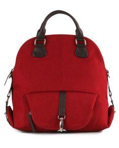 Rebeca Backpack, canvas, maroon.