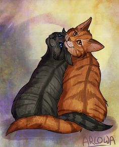 Cinderheart and Lionblaze awe<3