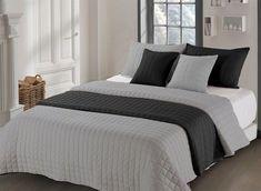 Prešívaný obojstranný prehoz na dvojposteľ sivo čiernej farby Bed, Furniture, Home Decor, Homemade Home Decor, Stream Bed, Home Furnishings, Beds, Decoration Home, Arredamento