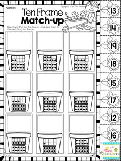 Spring math and literacy NO PREP printables pack! 48 pages of Spring themed… Free Kindergarten Worksheets, Kindergarten Classroom, Teaching Math, Autism Classroom, Teaching Ideas, Spring Activities, Math Activities, Spring School, Guided Math