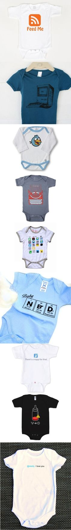 Baby Geek http://tobtr.com/s/4535805<-Listen http://www.twitch.tv/gameinatrix_ggr <-Watch Stylish onesies for baby geeks per @Mashable - cool, huh? @Mashable