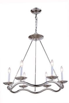 Perry 6 Light Candle Chandelier