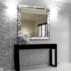 Nástenné zrkadlo AMANDINE - strieborná