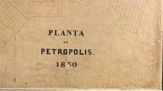 Realitas: Planta de Petrópolis, RJ, Brasil - 1850 - FBN