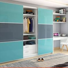 Schiebeschrank in Gurgaon Master Bedroom Wardrobe Designs, Wall Wardrobe Design, Sliding Door Wardrobe Designs, Wardrobe Interior Design, Wardrobe Room, Bedroom Cupboard Designs, Master Bedroom Interior, Bedroom Closet Design, Bedroom Furniture Design