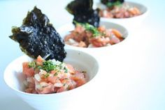 Tartar de salmón ahumado con crujiente de nori - http://www.thermorecetas.com/tartar-salmon-ahumado-crujiente-nori/