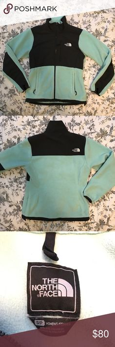 Women's Mint & Gray North Face Denali jacket Super cute and cozy North face jacket! This color was limited. Size small. Has been worn several times but is in great condition. Let me know if you have any questions! North Face Jackets & Coats Utility Jackets
