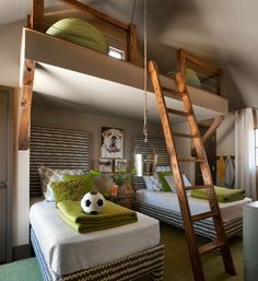It's small, but it works! Bedroom for 3, complete with hoisting bucket! www.homeology.co.za