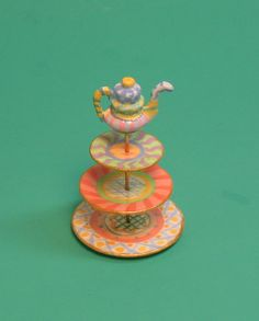 Collector Miniature  Fanciful 3 Tiered by PatriciaPaulStudio, $85.00