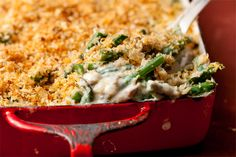This green bean casserole recipe has all the flavor of the classic dish but is made from scratch.