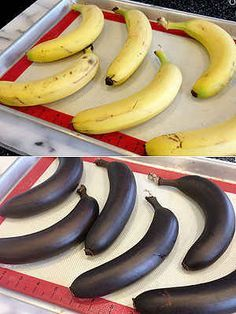 Ripen your bananas quickly by putting them in the oven for 40 minutes at 300ºF.