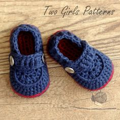 Crochet patterns -  Baby Boy Booties - The Sailor - Pattern number 203. $5.50, via Etsy.