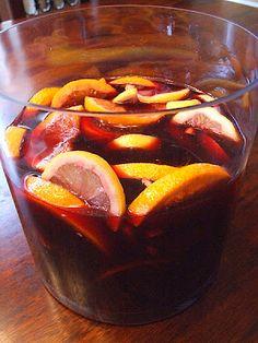 The Recipe Girl: Red Wine Sangria Recipe