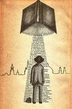 Take Me To Your Reader- art print by Jon Turner- surreal literary pen and ink artwork I Love Books, Good Books, Books To Read, My Books, Photo Facebook, Illustration, Bibliophile, Graphic, Book Lovers