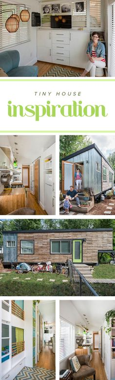 Take a tour inside this tiny home that's fit for a family. There are lots of interior decorating ideas if you're thinking of building a tiny house of you're own.