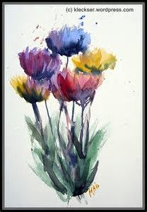 Image result for Watercolor Abstract Flower Paintings