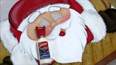 Pintura em tecido - Papai Noel - Parte 2 Final