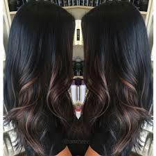 Resultado de imagen para brown highlights on black hair