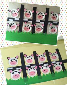 Cow craft for pre-schoolers/kids.