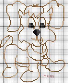 chien - dog - broderie - cross stitch -  - Le blog de Mamou - Point de croix - Blog : http://broderiemimie44.canalblog.com/