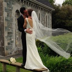 Zak and Elizabeth's wedding photo next to St. Finbarr's Oratory, Gougane Barra, Cork, Ireland