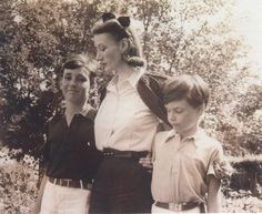 Fashion icon, Millicent Rogers, with her two sons
