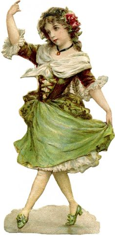 Pretty Young Dancing Girl Image - The Graphics Fairy