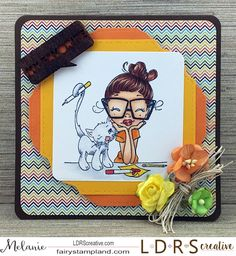 Fairy Stamp Land: LDRS Creative Saturated Canary Crafty Cat