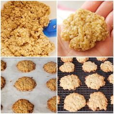 So easy and yummy. Healthy Cookies, Healthy Desserts, Delicious Desserts, Yummy Food, Healthy Recipes, Easy Cookie Recipes, Baby Food Recipes, Sweet Recipes, Cooking Recipes