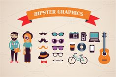 Hipster infographic by Marish on Creative Market