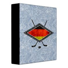 #German Ice Hockey Flag Folder 3 Ring Binder. Great for #hockey cards!  To see this design on the full range of products, please visit my store: www.zazzle.com/gamefacegear*/ #Hockeycards #IceHockey