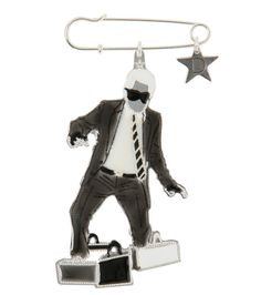Karl Lagerfeld pin w/Bags