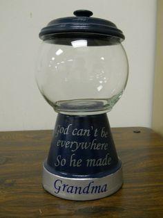 Cutomized Bubblegum Machine Candy Jar by Wishingwellcrafts on Etsy, $14.50