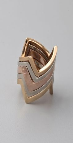 House of Harlow 1960 Five Stack Jagged Rings