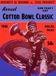 Football Calendar, Football Program, State College, College Football, Cotton Bowl, Bowl Game, University Of Texas, Vintage Football, Vintage Games