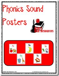 Alphabet phonics posters that include pictures for each sound and two for letters that have more than one sound - such as long vowels and soft c. Phonics Reading, Teaching Phonics, Phonics Activities, Reading Activities, Alphabet Activities, Kindergarten Reading, Guided Reading, Teacher Freebies, Classroom Freebies