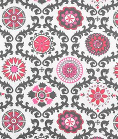 """Premier Prints Rosa Flamingo Fabric  $7.45per yard (1 to 9 yards)  Material: 100% Cotton Duck  Width: 54""""  Horizontal Repeat: 27""""  Vertical Repeat: 25"""""""